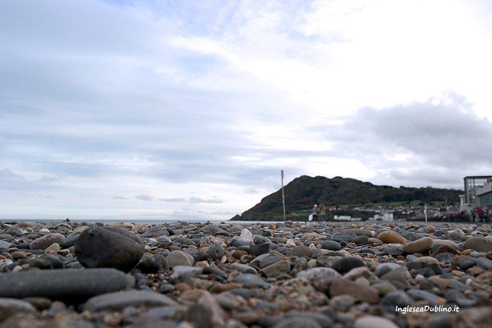 Spiaggia di Bray vicino Dublino in Irlanda