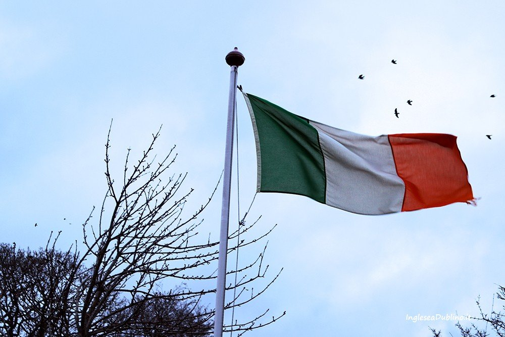 La Bandiera irlandese presso il Castello di Malahide