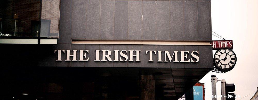 Le notizie a Dublino passano anche da qui, una foto della sede dell'Irish Times
